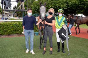 PRINCESSE DE SABA et son entourage, 1ère des 4 victoires de Tony Piccone ce jour-ci